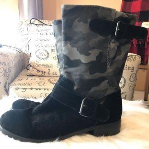 Suede & Camo boots
